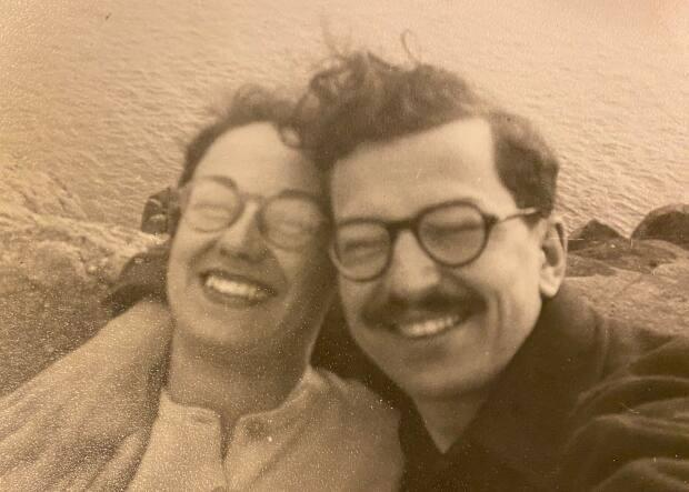 Dr. Ronald Bayne with his wife Barbara in an undated photograph.