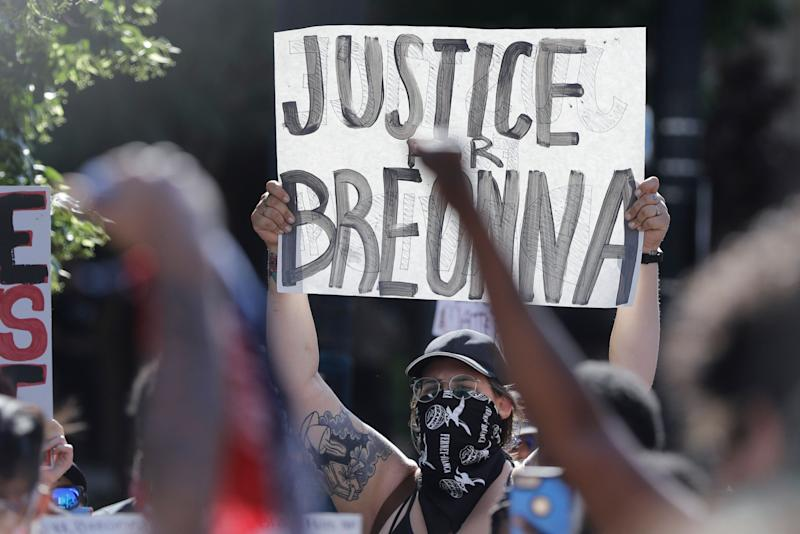 Breonna Taylor's killing at the hands of police in March sparked more than 100 nights of protests in Louisville as part of a larger outbreak of demonstrations calling for racial justice nationwide. (Photo: (AP Photo/Darron Cummings))