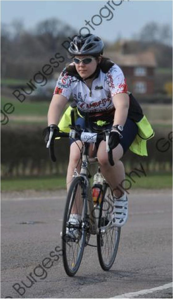 Sophie cycling in 2011.