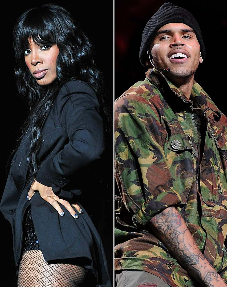 "Chris Brown and Kelly Rowland are secretly ""hooking up"" while on tour together, reveals <i>In Touch</i>. The mag says ""about four cities into the tour, Chris began asking Kelly out to dinner,"" and now they're in a full-on ""romance."" For how serious their relationship's become, and what Rowland's friends think of her being involved with Rihanna's attacker, get the inside dish by logging on to <a href=""http://www.gossipcop.com/chris-brown-kelly-rowland-hooking-up-fame-tour-date-dating-together/"">Gossip Cop.</a>"