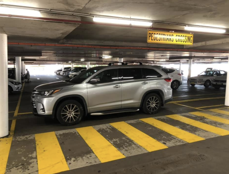 The driver left their vehicle in the middle of the road at the Marrickville Metro Shopping Centre car park.