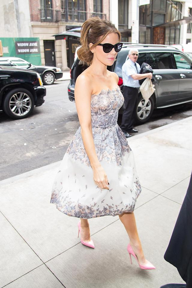 Another tulle dress made it onto the press tour. (Photo: Getty Images)