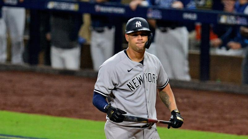 Gary Sanchez dejected after striking out
