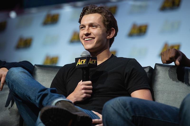 SEATTLE, WA - JUNE 23: Actor Tom Holland speaks on stage during a Civil War Cast conversation at ACE Comic Con at WaMu Theatre on June 23, 2018 in Seattle, Washington. (Photo by Mat Hayward/Getty Images)