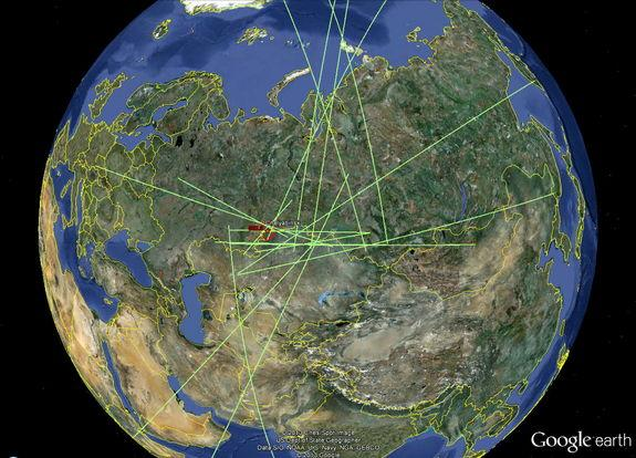 Seventeen infrasound stations in the Comprehensive Nuclear-Test-Ban Treaty Organization's network detected the infrasonic waves from the meteor that broke-up over Russia's Ural mountains on Feb. 15, 2013.