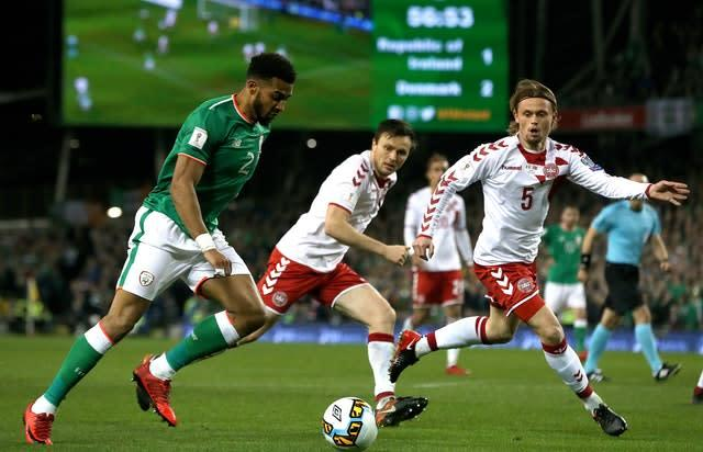 Cyrus Christie suffered abuse following international duty with the Republic of Ireland (Niall Carson/PA)