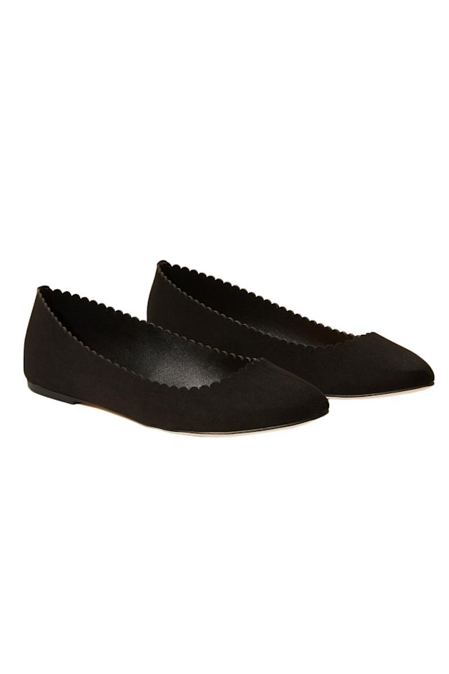 """<p>Add polish to casual styles with this scallop-edged slip-on. Though the shoe is incredibly lightweight, it has a padded footbed for added comfort.<br /> <br /> <strong>To buy:</strong> $60, <a rel=""""nofollow"""" href=""""http://click.linksynergy.com/fs-bin/click?id=93xLBvPhAeE&subid=0&offerid=469932.1&type=10&tmpid=23050&RD_PARM1=http%3A%2F%2Fwww.loft.com%2Fscalloped-ballet-flats%2F429150%3FskuId%3D22290984%26defaultColor%3D2222%26colorExplode%3Dtrue%26catid%3Dcatl000022&u1=RS7ComfortableBalletFlatsFASRDFeb17"""">loft.com</a>.</p>"""