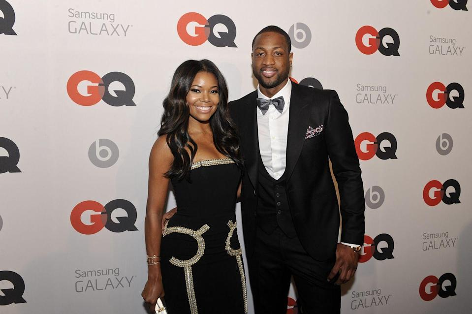 "<p>Gab Union and former Miami Heat player Dwyane Wade met at a sporting event, but it wasn't basketball. The pair <a href=""https://www.womenshealthmag.com/relationships/a27681656/gabrielle-union-dwyane-wade-relationship-timeline/"" rel=""nofollow noopener"" target=""_blank"" data-ylk=""slk:co-sponsored a Super Bowl party in 2007"" class=""link rapid-noclick-resp"">co-sponsored a Super Bowl party in 2007</a>. Gabrielle had just gone through a divorce and Dwyane was prepping for one, so the couple didn't make it official until 2010. By 2013, Gabrielle and Dwyane were engaged, then <a href=""https://www.essence.com/love/weddings/inside-gabrielle-union-and-dwyane-wades-wedding-day/#168301"" rel=""nofollow noopener"" target=""_blank"" data-ylk=""slk:married the following year"" class=""link rapid-noclick-resp"">married the following year</a>. Now, they are <a href=""https://www.businessinsider.com/dwyane-wade-lgbtq-child-zaya-wade-changes-name-and-pronouns-2020-2"" rel=""nofollow noopener"" target=""_blank"" data-ylk=""slk:rocking parenthood"" class=""link rapid-noclick-resp"">rocking parenthood</a>.</p>"