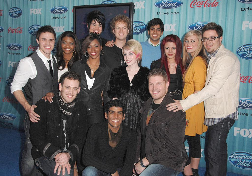 """The Top 13 finalists arrive at the <a href=""""/american-idol/show/34934"""">""""American Idol""""</a> Top 13 Party held at AREA nightclub on March 5, 2009 in Los Angeles, California."""