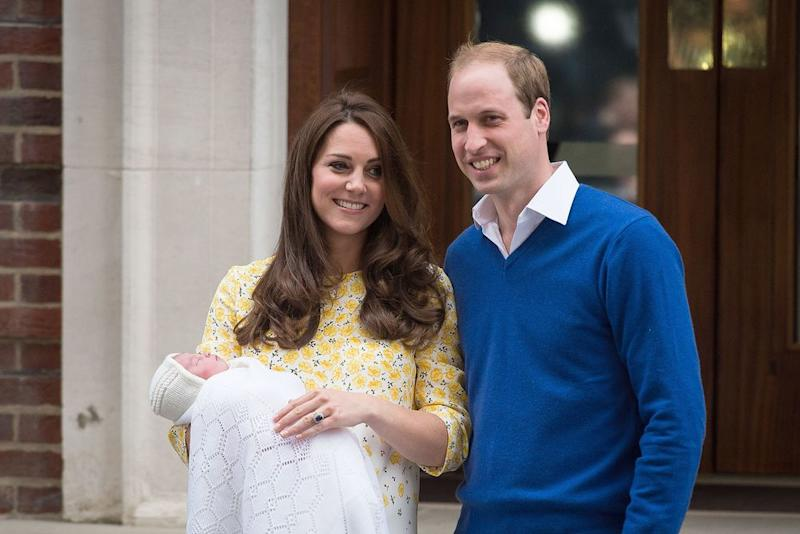 Kate and William with Charlotte