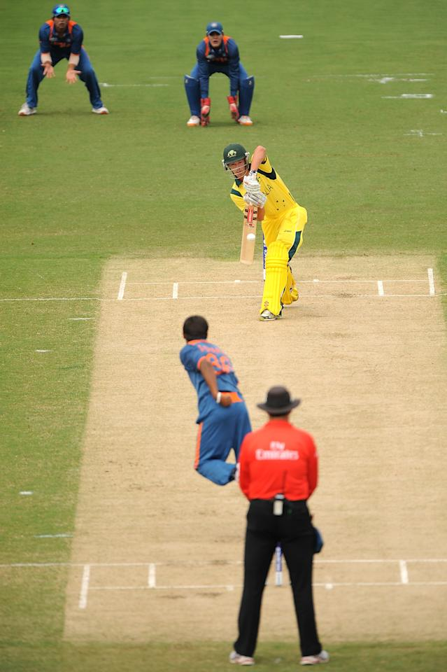 TOWNSVILLE, AUSTRALIA - AUGUST 26:  Meyrick Buchanan of Austalia bats during the 2012 ICC U19 Cricket World Cup Final between Australia and India at Tony Ireland Stadium on August 26, 2012 in Townsville, Australia.  (Photo by Matt Roberts/Getty Images)