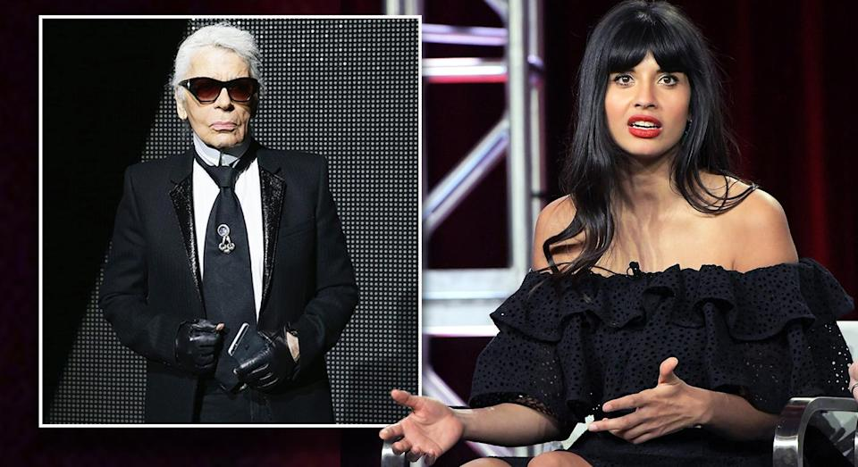 Jameela Jamil has hit out at the late Karl Lagerfeld. [Photo: Getty]