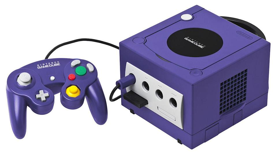 "<p>The GameCube controller was a refreshing change for players who could have felt a bit confused by the Nintendo 64's design. Instead of using a three-pronged approach, Nintendo went a bit more utilitarian, doubling the number of analog sticks, keeping the ""Start"" button, and keeping the directional pad and triggers. </p><p>It included a large ""A"" button, a smaller red ""B"" button, and two kidney-shaped buttons marked ""X"" and ""Y"". The left gray analog stick was for controlling characters, while the yellow stick was, like the Nintendo 64's earlier ""C"" buttons, more for camera control.</p>"