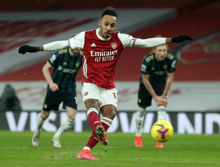 Arsenal forward Pierre-Emerick Aubameyang demolished Leeds