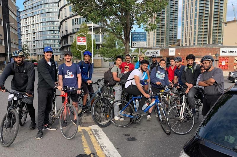 An experienced cyclist, he was part of a larger team of fundraisers, called Team A1, who were donating to Islamic Relief