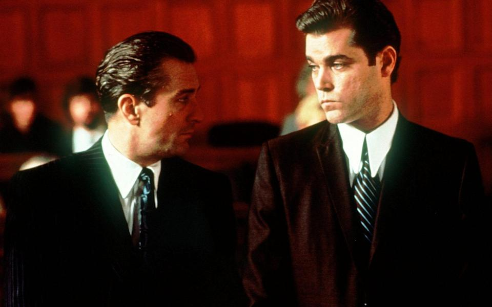 Liotta (r) played Henry Hill, opposite De Niro's Burke-inspired Conway, in the film - AP