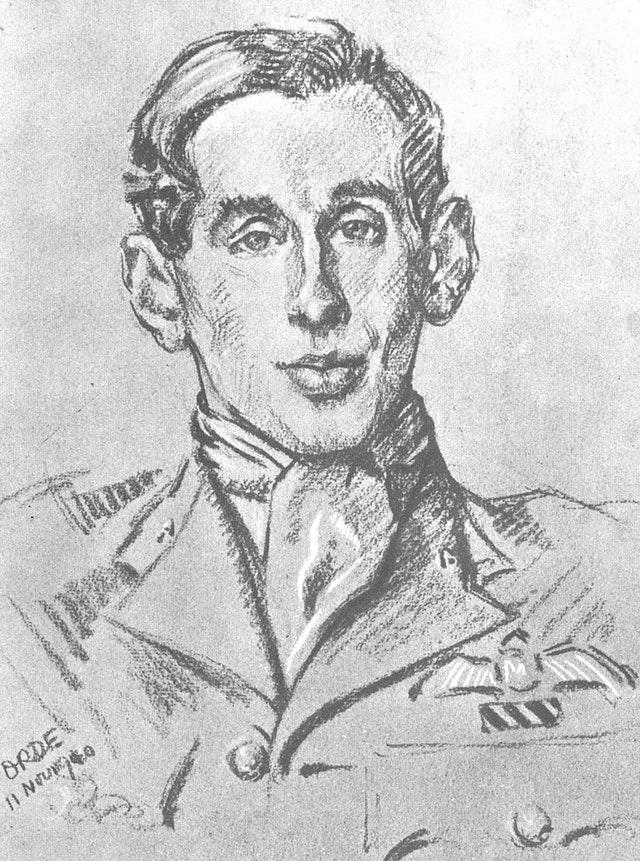Portrait of Flying Officer John Dundas, drawn by Cuthbert Orde
