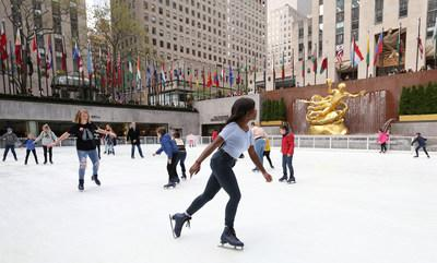 Skaters on The Rink at Rockefeller Center for the season opening on Monday, October 14, 2019 in New York. (Photo credit: Donald Traill)