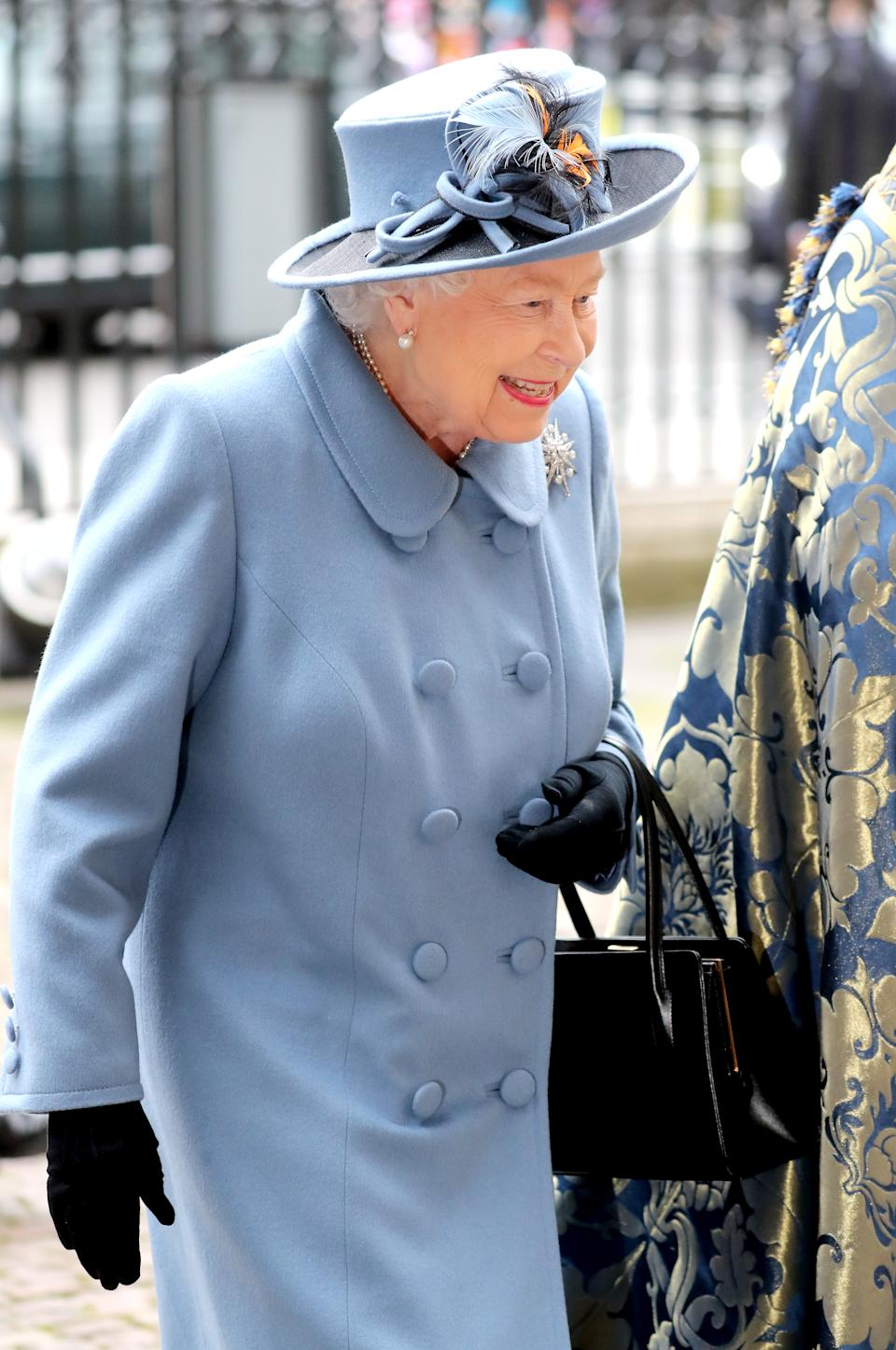 LONDON, ENGLAND - MARCH 09: Queen Elizabeth II attends the Commonwealth Day Service 2020 at Westminster Abbey on March 09, 2020 in London, England. The Commonwealth represents 2.4 billion people and 54 countries, working in collaboration towards shared economic, environmental, social and democratic goals. (Photo by Chris Jackson/Getty Images)