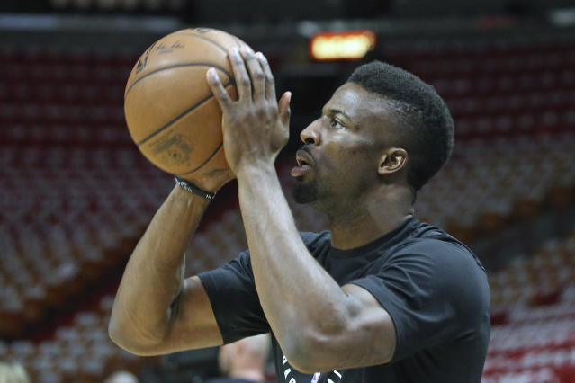 "<a class=""link rapid-noclick-resp"" href=""/nba/players/5762/"" data-ylk=""slk:David Nwaba"">David Nwaba</a> averaged 7.9 points and 4.7 rebounds for Chicago last season. (AP)"