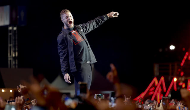 Much of Twitter was in shock Monday when the band of their favorite commercials was awful during the CFP National Championship halftime show. (AP)