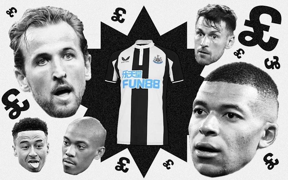 Newcastle United have £190m to spend - so who could be on their transfer list?