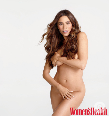 Sofia Vergara strips down for Women's Health. (Photo: Matthias Vriens-McGrath/Women's Health)