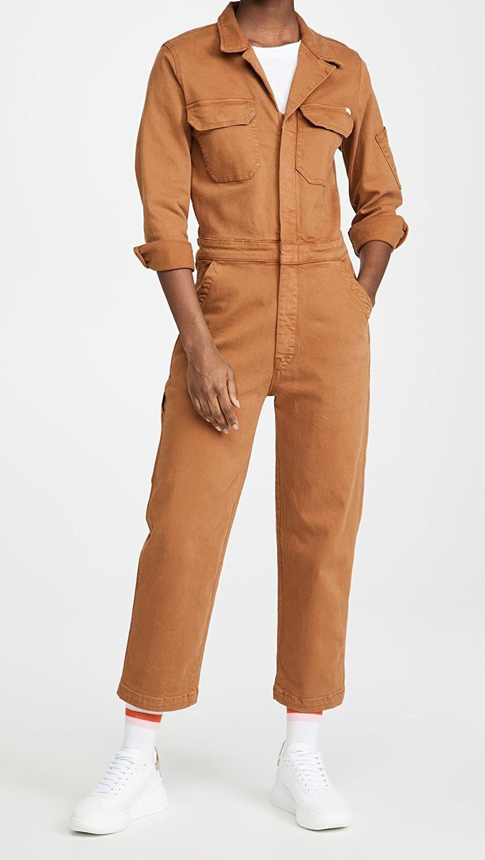 <p>How cool is this <span>MOTHER The Fixer Jumpsuit</span> ($350)?</p>