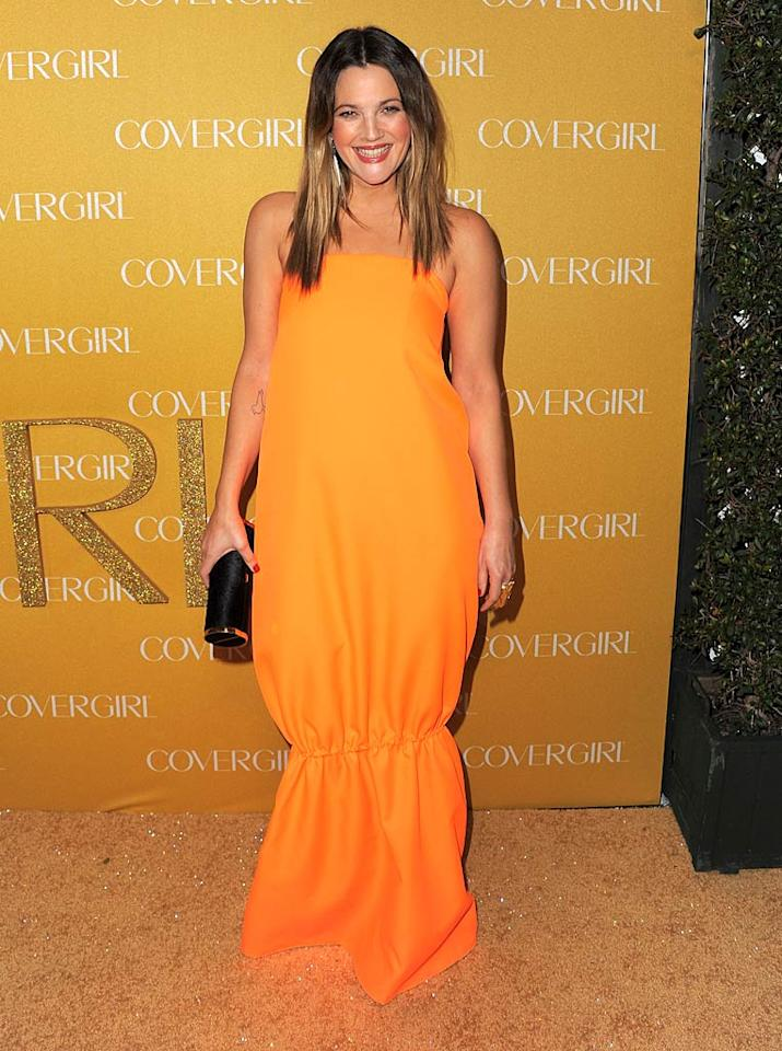 """Don't get us wrong; we love Drew Barrymore. We just don't happen to like the bulky Jil Sander sack, two-toned locks, and overabundance of blush she sported to CoverGirl Cosmetics' 50th anniversary party. Jordan Strauss/<a href=""""http://www.wireimage.com"""" target=""""new"""">WireImage.com</a> - January 5, 2011"""