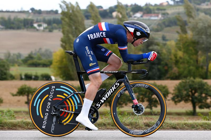 IMOLA ITALY SEPTEMBER 25 Remi Cavagna of France during the 93rd UCI Road World Championships 2020 Men Elite Individual Time Trial a 317km race from Imola to Imola Autodromo Enzo e Dino Ferrari ITT ImolaEr2020 Imola2020 on September 25 2020 in Imola Italy Photo by Bas CzerwinskiGetty Images
