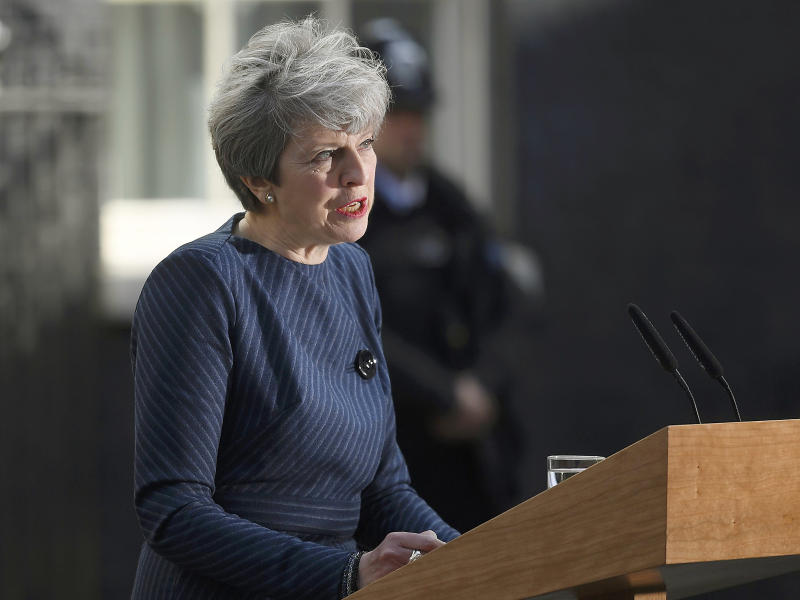 Theresa May stunned the country by announcing a general election outside 10 Downing Street on Tuesday morning, having decided to do so on a walking holiday in Wales: Reuters