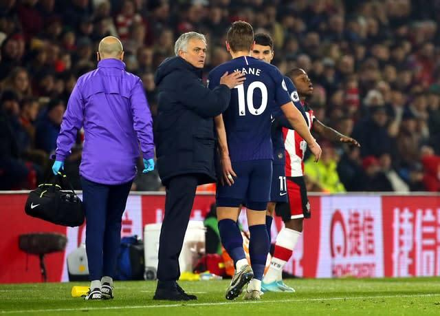Harry Kane required surgery after suffering a hamstring injury at Southampton in January (Mark Kerton/PA)