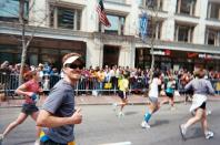 """<p>I love the sense of accomplishment I get from pushing myself through the pain. The burger and beer post-race meal is also a nice reward!</p><p><i>—Matt Hilborn, 33, San Diego, California. Senior UI/UX Engineer at <a href=""""http://events.com"""" rel=""""nofollow noopener"""" target=""""_blank"""" data-ylk=""""slk:events.com"""" class=""""link rapid-noclick-resp"""">events.com</a>, nine-time marathon finisher.</i></p>"""