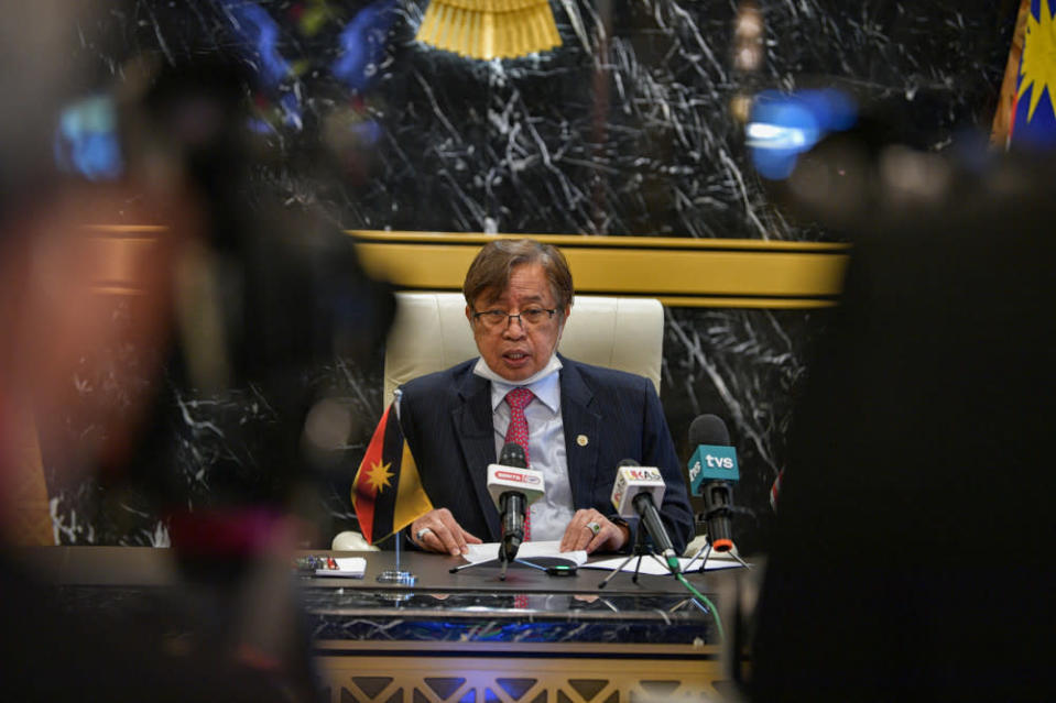 Abang Johari said the initiative may also lead to a potential spin-off in the development of diagnostics kits and an antibody drug against Covid-19. — Bernama pic