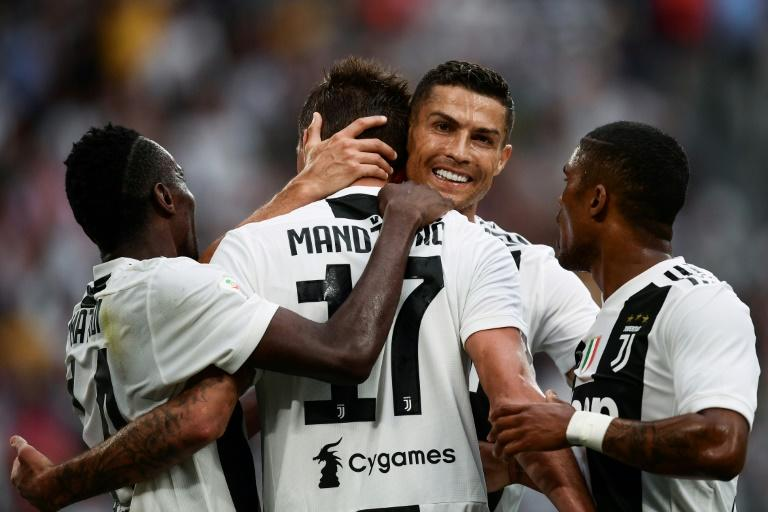 Cristiano Ronaldo made a winning home debut for Juventus in 2-0 victory over Lazio