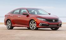 """<p>It can be tough to find something that the <a href=""""https://www.caranddriver.com/honda/civic-2021"""" rel=""""nofollow noopener"""" target=""""_blank"""" data-ylk=""""slk:Honda Civic"""" class=""""link rapid-noclick-resp"""">Honda Civic</a> doesn't do well; there's a model for every need, from fuel sippers to track attackers. Plus it's a frequent <a href=""""https://www.caranddriver.com/features/a25252134/10best-cars-2019/"""" rel=""""nofollow noopener"""" target=""""_blank"""" data-ylk=""""slk:10Best winner"""" class=""""link rapid-noclick-resp"""">10Best winner</a>. When equipped with a turbocharged 1.5-liter inline-four and CVT, the Civic is rated at an EPA combined 36 mpg. The 2019 models received a much needed infotainment update and new standard driver-assistance functionality. It's not the most fun you'll have in a Civic (that would be the Si or Type R), but it's a good choice when trying to avoid gas stations. A <a href=""""https://www.caranddriver.com/honda/civic"""" rel=""""nofollow noopener"""" target=""""_blank"""" data-ylk=""""slk:completely new Civic"""" class=""""link rapid-noclick-resp"""">completely new Civic</a> is expected for spring 2021, and we expect it to have a similarly fuel-efficient powertrain. </p><ul><li>Base Price: $20,480</li><li>Fuel Economy EPA combined/city/highway: 36/32/42 mpg</li><li>Horsepower: 174 hp</li></ul><p><a class=""""link rapid-noclick-resp"""" href=""""https://www.caranddriver.com/honda/civic-2021/specs"""" rel=""""nofollow noopener"""" target=""""_blank"""" data-ylk=""""slk:MORE CIVIC SPECS"""">MORE CIVIC SPECS</a></p>"""