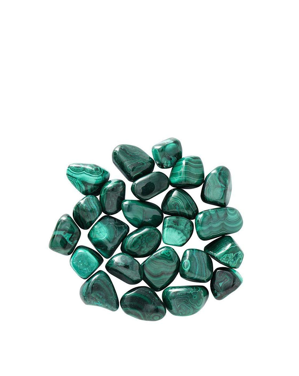 """<p><strong>Modern Mystic Shop</strong></p><p>modernmysticshop.com</p><p><strong>$49.00</strong></p><p><a href=""""https://modernmysticshop.com/products/tumbled-malachite"""" rel=""""nofollow noopener"""" target=""""_blank"""" data-ylk=""""slk:Shop Now"""" class=""""link rapid-noclick-resp"""">Shop Now</a></p><p>Malachite brings balance and fairness to relationships. It will help you speak up, listen properly, and take on the truth (whichever you need, or all of the above). Power dynamics are a major ~make or break~ in your relationships, and this will help even the odds.</p>"""