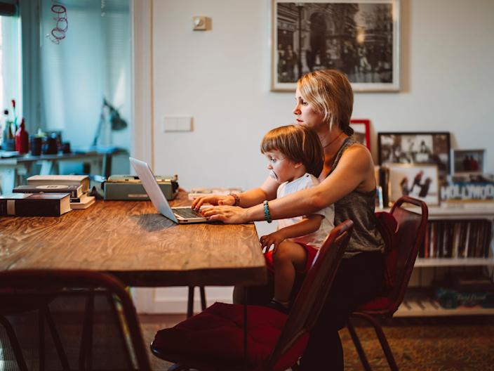 Many parents are balancing working remotely, managing the home, and taking care of their children.