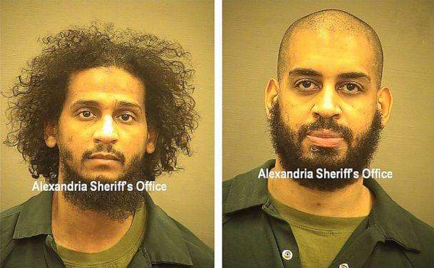 PHOTO: Booking images show alleged ISIS members Alexanda Kotey (L) and El Shafee Elsheikh (R) released by the Alexandria Sheriff's Office after the two were flown to the United States to face federal terrorism charges in Alexandria, Va., Oct. 8, 2020. (Alexandria Sheriff's Office/Handout via EPA via Shutterstock)
