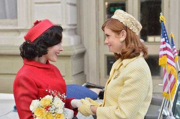 """Azure Parsons as Annie Glenn (left) and JoAnna Garcia Swisher as Betty Grissom in """"The Astronaut Wives Club."""""""