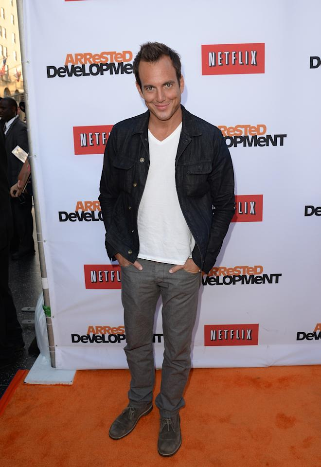 "HOLLYWOOD, CA - APRIL 29:  Actor Will Arnett arrives at the TCL Chinese Theatre for the premiere of Netflix's ""Arrested Development"" Season 4 held on April 29, 2013 in Hollywood, California.  (Photo by Jason Merritt/Getty Images)"
