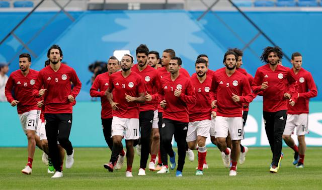 Soccer Football - World Cup - Egypt Training - Saint Petersburg Stadium, Saint Petersburg, Russia - June 18, 2018 General view during training REUTERS/Henry Romero
