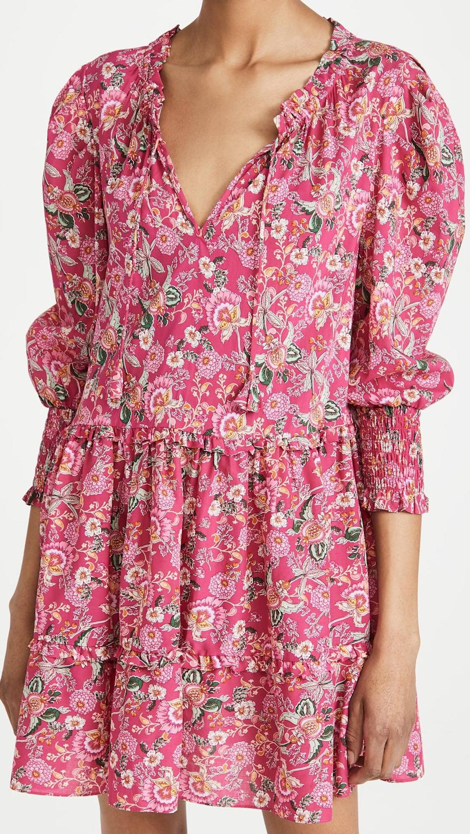 <p>The print on this breezy <span>Misa Maya Dress</span> ($320) is so beautiful, and it's so easy to stay.</p>