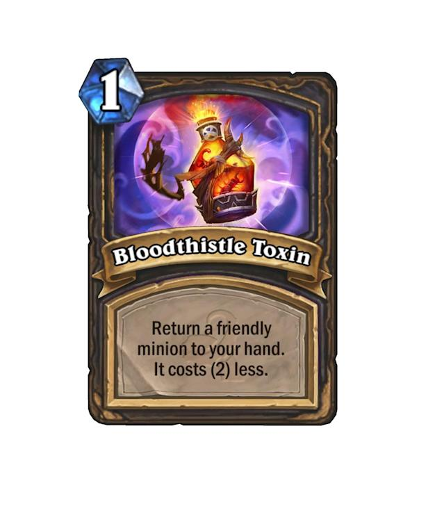 """<p>It may be strictly worse than <a href=""""http://hearthstone.gamepedia.com/Shadowstep"""" rel=""""nofollow noopener"""" target=""""_blank"""" data-ylk=""""slk:Shadowstep"""" class=""""link rapid-noclick-resp"""">Shadowstep</a>, but hey, you get it for free from Xaril, so who are we to complain?</p>"""
