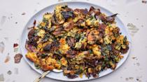 "<a href=""https://www.bonappetit.com/recipe/one-skillet-mushroom-cornbread-stuffing?mbid=synd_yahoo_rss"" rel=""nofollow noopener"" target=""_blank"" data-ylk=""slk:See recipe."" class=""link rapid-noclick-resp"">See recipe.</a>"