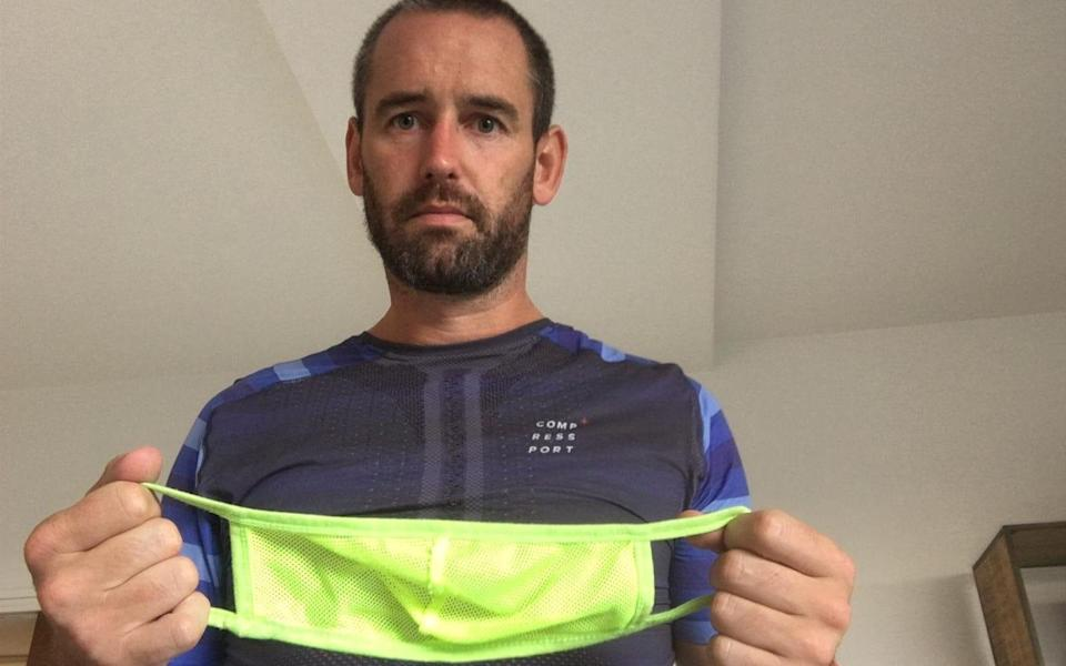 Benjamin Glynn, 39, allegedly believes masks are pointless and don't protect people from contracting Covid-19 - SWNS
