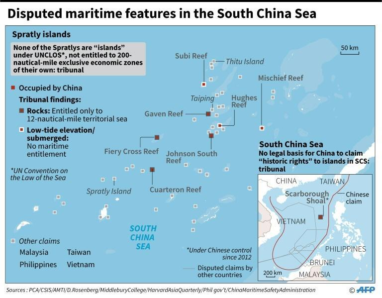 Disputed maritime features in the South China Sea