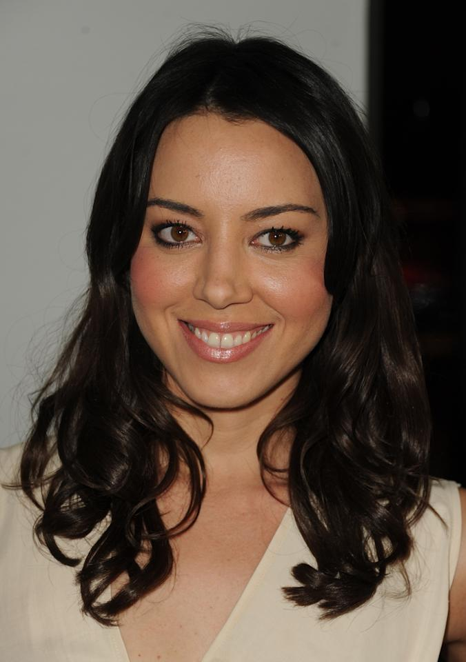 """HOLLYWOOD, CA - DECEMBER 12:  Actress Aubrey Plaza attends the premiere of Universal Pictures' """"This Is 40"""" at Grauman's Chinese Theatre on December 12, 2012 in Hollywood, California.  (Photo by Kevin Winter/Getty Images)"""