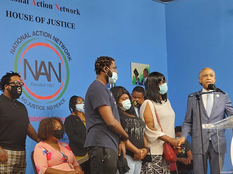 Grieving family of 1-year-old Brooklyn gunfire victim speak out at Rev. Al Sharpton rally