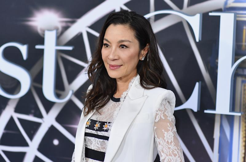 "Malaysian actress Michelle Yeoh attends the premiere of Universal Pictures' ""Last Christmas"" at AMC Lincoln Square on October 29, 2019 in New York City. (Photo by Angela Weiss / AFP) (Photo by ANGELA WEISS/AFP via Getty Images)"